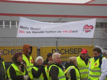 Streik im Einzelhandel am 20.12.2013 in Lübbenau