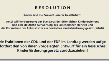 Resolution Kinderförderungsgesetz