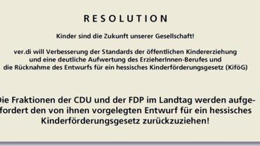 Resolution Kinderförderungsgesetz