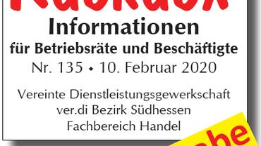 Informationen für Betriebsräte und Beschäftigte. Extraausgabe