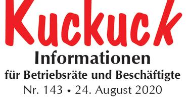 Kuckuck Informationen für Betriebsräte und Beschäftigte im Fachbereich Handel